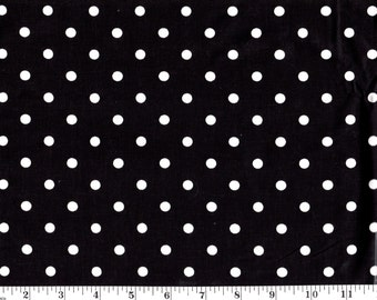1 Yard, White Dots on Black