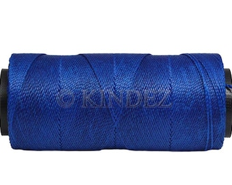 Bracelet Cord 0.8mm - 16 yards/15 meters - Waxed Polyester Cord - Knotting Cord - Dark Royal Blue