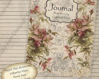 Printable Digital iPad Accessories - Journal Kit Catherine Klein  Instant Download