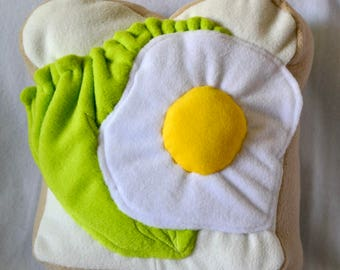 Salad & egg cuddle pillow