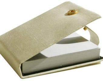 Ivory Thai Silk Notebook