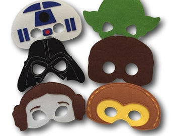 Star Wars Party Masks, Star Wars Party Favors,  Star Wars Party Masks Pack of 6, Star Wars Birthday