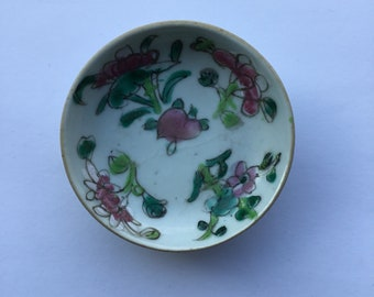 Small Antique Chinese Hand Painted Plate / Dish - Signed