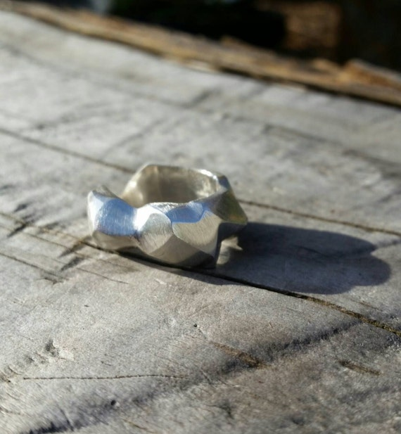 Size 10 Unisex Minerals Series Recycled Sterling Silver Ring