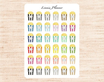 Popcorn Box Regular size (matte planner stickers, perfect for planners)