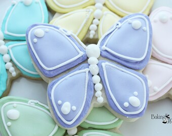 Easter Butterfly Decorated Cookies, Easter Cookies, Easter Basket Cookies, Pastel Butterfly Cookies, Yellow chick cookies, Easter Butterfly