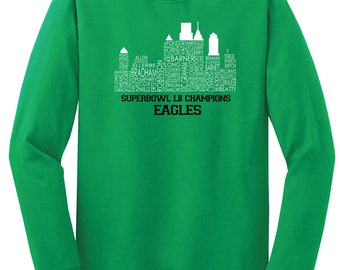 Philly Skyline Champs Long-Sleeved Shirt