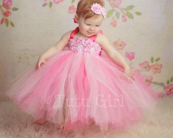 Girls Birthday Dress, Birthday Tutu Dress - Pink Birthday Dress, Baby Dress, Toddler Dress