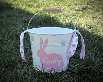Personalized Easter Bucket // Easter Basket // Monogrammed Easter // Custom Bunny