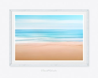 Seascape, Seascape Photograph, Seascape Print, Wave Photograph, Abstract Photograph, Surf Photograph, Beach Abstract, Minimalist Photograph
