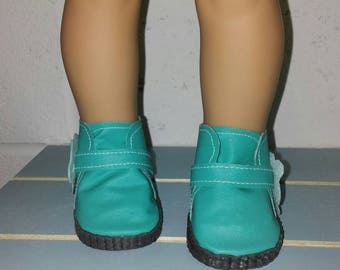 Slip on teal boots for 18 inch dolls