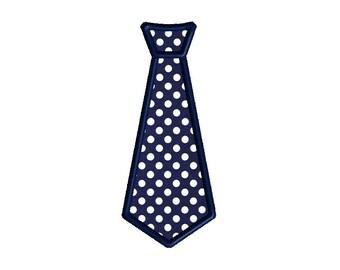 Tie Applique Machine Embroidery Design-INSTANT DOWNLOAD