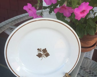 Ironstone Plate Royal China Antique White Tea-leaf plate Alfred Meakin