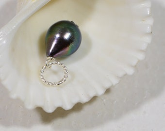 Black Pearl Pendant Baroque Pearl Drop Pearl Wedding Bridesmaid Gift Ideas Gemstone Pendant