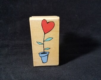 Pot of Love Used Rubber Stamp View all Photos