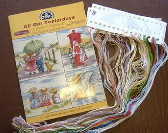 All Our Yesterdays Collectors Edition II Cross Stitch Chart (DMC) Plus Thread