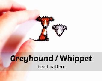 Cute Greyhound & Whippet Brick Stitch Animal Bead Patterns