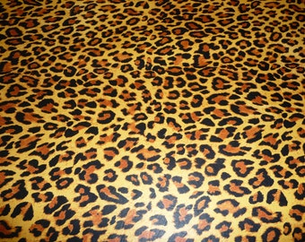 """Leather 2 pieces 5""""x11"""" Toast Brown Jungle Cheetah / Leopard Print Cowhide NOT Hair-On #312 2 oz / 0.8 mm PeggySueAlso™ E1650-05"""