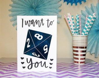 D8 - I Want to D8 You - Dungeons and Dragons Card