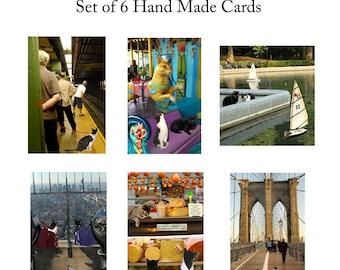 Cat Lover Gift,  New York City, Cat Greeting Cards, Handmade,Blank Note Cards, Stationery Set, Deborah Julian