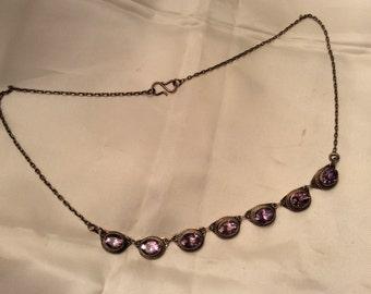 Sale Amethyst 925 Silver Necklace