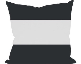 18x18 Modern Black and White Color Block Pillow Cover