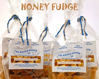 Honey Fudge - Handmade Fudge - Handmade Confectionery, Fudge, Made in Devon, Edible Gifts, Sweet Treats, Food Gifts, Sweets, Holiday Gifts