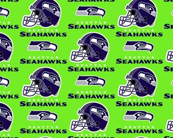 NFL Seattle Seahawks v3 Cotton Fabric by the yard