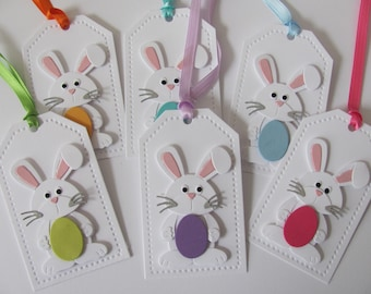 Easter Bunny Tags, Easter Favor Tags, Easter Gift Tags, Easter Bunny Tag, Easter Basket Gift Tags, Pastel Colors, Bunny Tags, Easter Tags