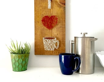 Coffee art, living room wall art, dining room wall art, bedroom wall art, kitchen wall art, housewarming gift, foodie art, entry way wall