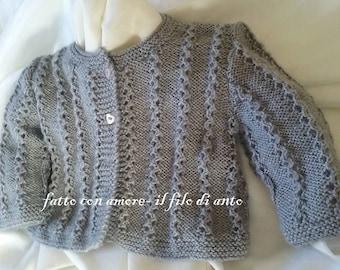Wool cardigan sweater for neoanta