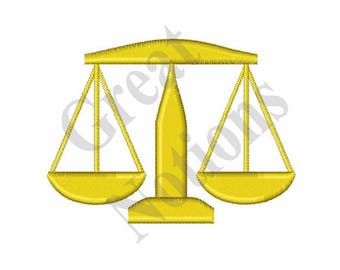 Small Scales Of Justice - Machine Embroidery Design