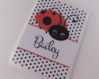 Ladybug Photo Album Girl baby Grandmas brag Book 4x6 or 5x7 Pictures Lady Bug Red black Polka Dot Personalized Gift 677