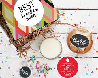 Mini Best Teacher Ever Gift Box -  Appreciation Gift | Teacher Gift | Teacher's Aide Gift | End of the Year Gift | Teacher Appreciation