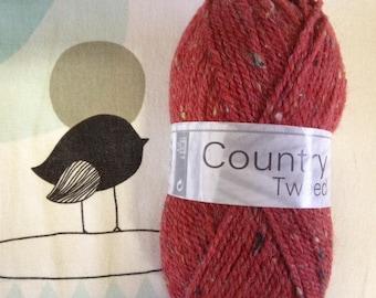 COUNTRY brick - horse white TWEED wool