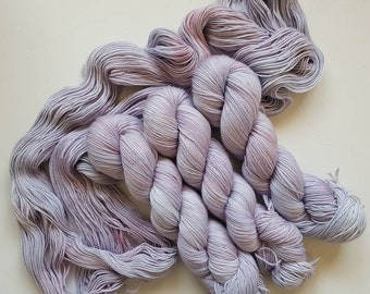 Feisty Lilac- Hand Dyed Tonal Yarn, Superwash Merino Nylon 2 Ply twist