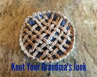 Blueberry Pie Potholder, Blueberry, Pie, Potholder