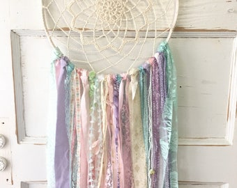 "Dream Catcher, Dreamcatcher Party Decoration for Boho Baby Shower, Nursery Decor, Wedding shower or Ceremony, 12"" handmade Party Decoration"