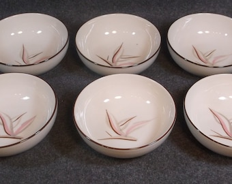 Clean Winfield Potteries Lot Of 6 Bowls They Are 5 1/2 inches round