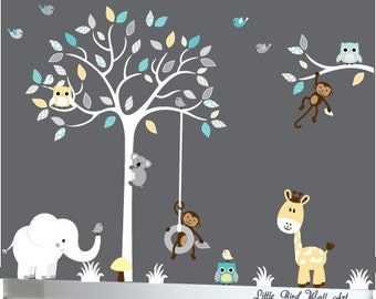 Wall Decals For Baby, Baby Wall Decal, Tree Decal, Wall Decals Nursery, Wall Decal Tree, Childrens Wall Decals, Nursery Wall Decal