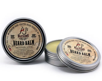 Beard Balm | 2oz Tin | Beard Conditioning Balm in Mother Lode Scent