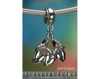 Sterling Silver Morning Glory Charm or European Style Charm Bracelet