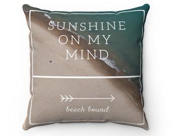 Sunshine Beach Bound Square Pillow Case