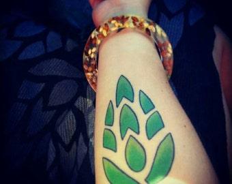 Bangle Bracelet with Hops and Barley