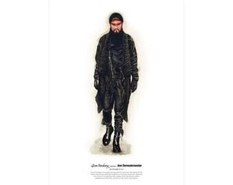 He Wears It 011 - Guan Yunchang wears Ann Demeulemeester   (limited edition)