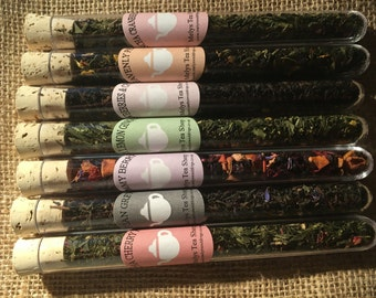 Luxury Tea Gift Set, Tea Gift box, Tea shots, Sample Teas, loose leaf teas, tea lover, birthday gift set, Set 3