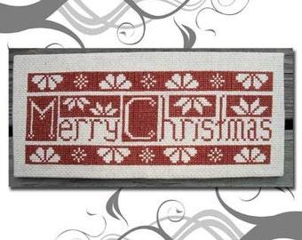 PDF E pattern emailed Quaker Christmas Sampler Cross Stitch Pattern 81