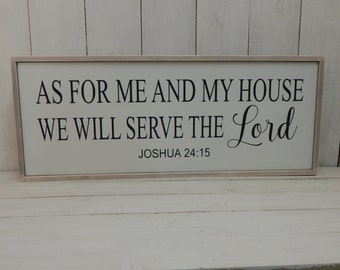 As For Me and My House We Will Serve the Lord Sign Bible Verse Wall Art Christian Wall Art Bible Verse Bible Scripture Sign Wood Sign
