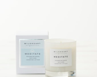 Soy Candle -   Jamine ,Frankincense & Vetiver Meditate Natural Candle