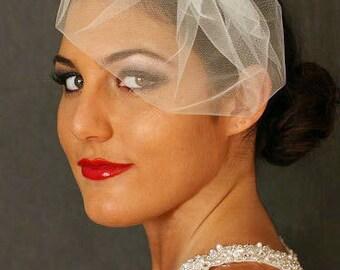 Mini Veil, Tulle, Pouf Veil, Birdcage Veil, Blusher, Bridal Veil, Double Layer Tulle Veil Best Bridal Veil